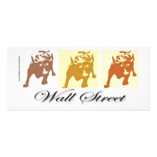 Wall Street Bull Market Rack Card
