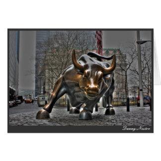 Wall Street Bull Tarjeta De Felicitación