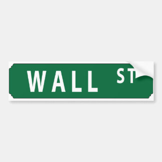 Wall Street Bumper Sticker
