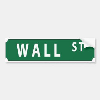 Wall Street Etiqueta De Parachoque