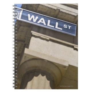 Wall Street Libro De Apuntes Con Espiral