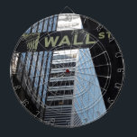 "Wall Street Dartboard With Darts<br><div class=""desc"">Wall Street,  Financial District,  Manhattan,  New York City.</div>"