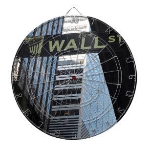 Wall Street Dartboard With Darts