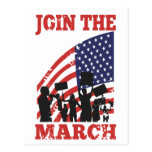 Wall Street de protesta americano se une a marzo Tarjeta Postal