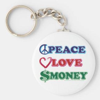 Wall Street/dinero del amor de la paz Llaveros