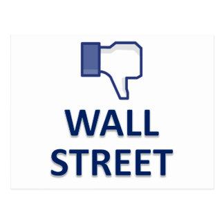 WALL STREET DISLIKE POSTCARD