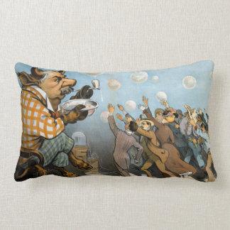 Wall Street Dreams - J. P. Morgan - Udo Keppler Lumbar Pillow