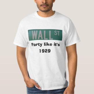 Wall Street, fiesta como él es, 1929 Playera