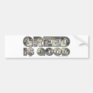 Wall Street/ Greed is Good Bumper Sticker