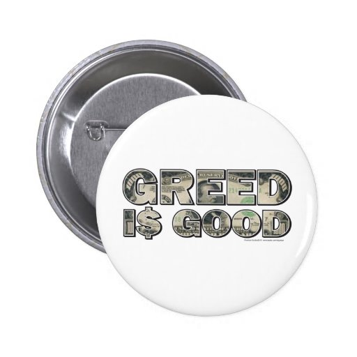 Wall Street/ Greed is Good Pins
