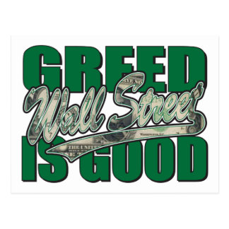 Wall Street/ Greed is Good Postcard