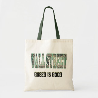 Wall Street/ Greed is Good Tote Bag