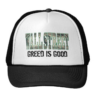 Wall Street/ Greed is Good Trucker Hat