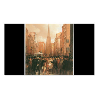Wall Street, Half Past Two O'Clock 1857 Business Card Template
