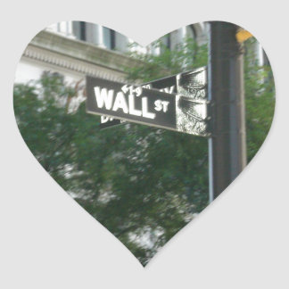Wall Street Heart Sticker