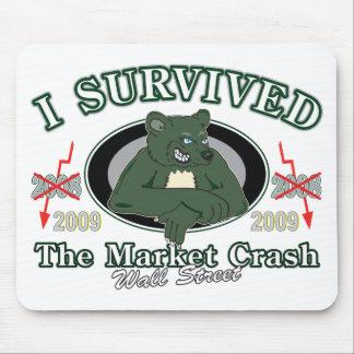 Wall-street/I sobrevivió el desplome del mercado Alfombrilla De Ratones