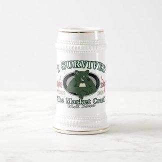 Wall-street/I Survived the Market Crash Beer Stein