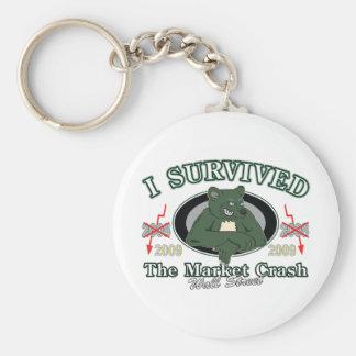 Wall-Street/I Survived the Market Crash Keychain