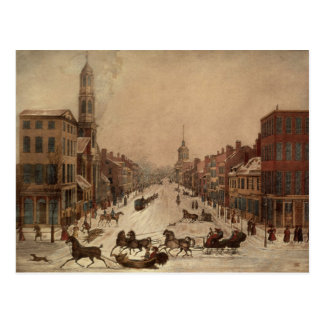 Wall Street in Winter Postcard