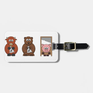 Wall Street Inspired Products. Luggage Tag