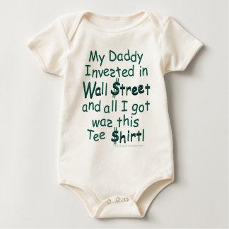 Wall Street Meltdown Humor Baby Bodysuit