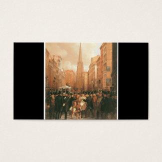 Wall Street, mitad más allá de dos en punto 1857 Tarjetas De Visita