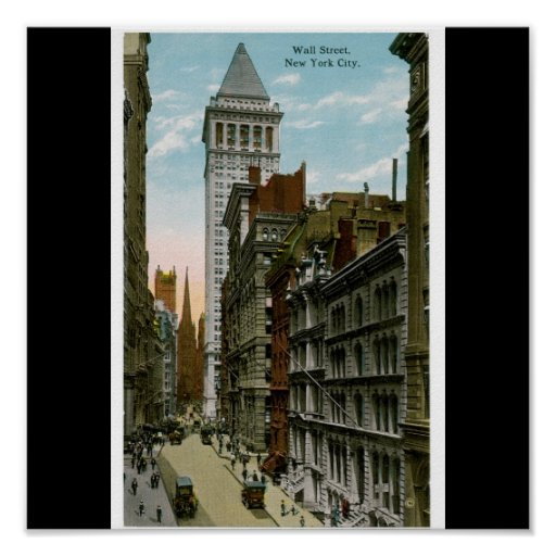 Wall Street, New York City Poster