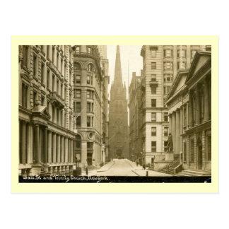 Wall Street, New York City Vintage Postcard