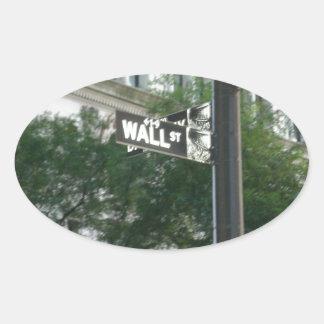 Wall Street Oval Sticker