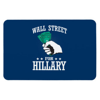 WALL STREET PARA HILLARY RECTANGLE MAGNET