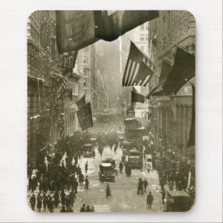 Wall Street Party, end of WW1, 1918 Mouse Pad