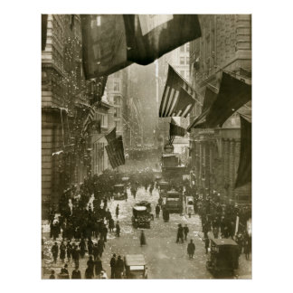 Wall Street Party, End of WW1, 1918 Posters