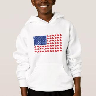 Wall Street Patriotic American Flag Hoodie