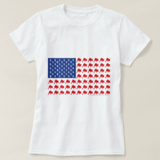 Wall Street Patriotic American Flag T-Shirt