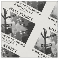 Wall Street Paved Too Much Beta Too Little Alpha Fabric