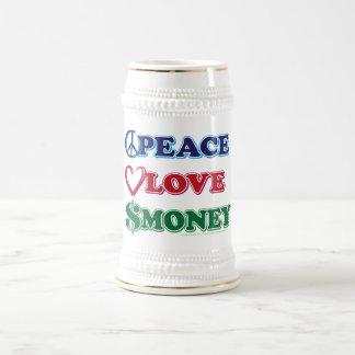 Wall Street/Peace Love Money Beer Stein