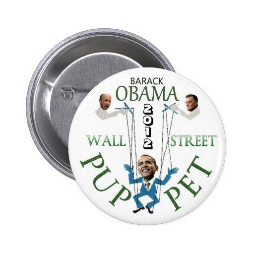 Wall Street Puppet Button