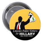 Wall Street Puppet Pinback Button