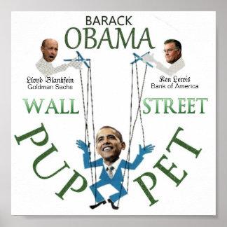 Wall Street Puppet Poster