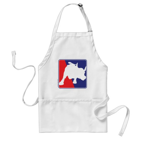 Wall Street Red White and Blue Bull Adult Apron