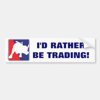 Wall Street Red White and Blue Bull Bumper Sticker