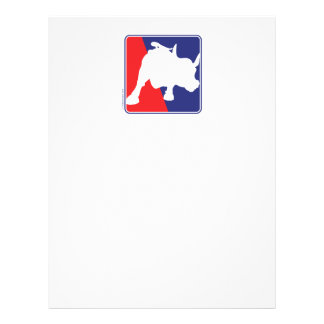 """Wall Street Red White and Blue Bull 8.5"""" X 11"""" Flyer"""