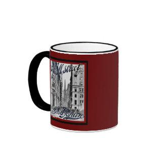 Wall Street Scott Joplin Ringer Coffee Mug