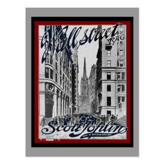 Wall Street Scott Joplin Postales