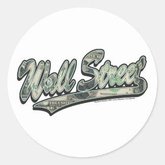 Wall-Street-Script-In-Bill Classic Round Sticker