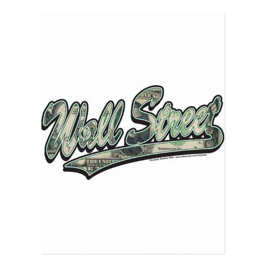 Wall-Street-Script-In-Bill Postcard