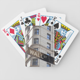 Wall Street Sign Playing Cards