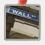 Wall Street Square Metal Christmas Ornament