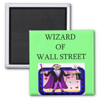 wall street stock ,market investor 2 inch square magnet