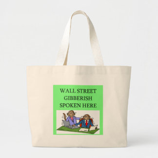 wall street stock market investor tote bag